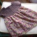 """Que faire quand il ne reste """"que"""" 35cm sur 1,10m de joli LIBERTY """"Poppy ans Daisy"""" ? Une petite robe pour Apolline, bien..."""
