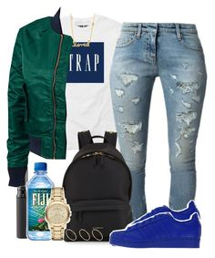 $ by yngshorty on Polyvore featuring Schott NYC, Faith Connexion, adidas, Givenchy, Burberry, Sydney Evan, ASOS and MAC Cosmetics