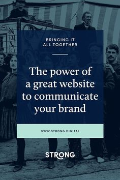THE POWER OF A GREAT WEBSITE TO COMMUNICATE YOUR BRAND.  We're (obviously) huge advocates for having a website that perfectly serves your business and helps you grow. But have you ever thought about how your website functions as a brand touchpoint? In our most recent blog, we go through why we love websites for communicating your brand story and how to best leverage their power.