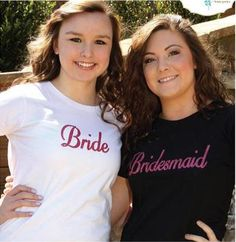 For the Bride & Bridesmaids- Bride & Bridesmaid T-Shirt ST0001