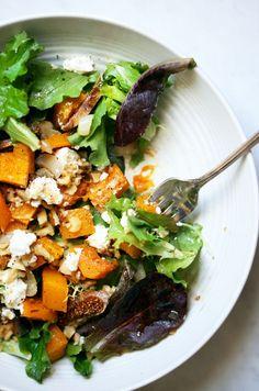 Roasted Onion Squash + Fig Salad | Yummy Beet