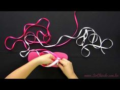 Como fazer o ponto macramê com duas cores de fio - Videoaula Sr. Chinelo - YouTube