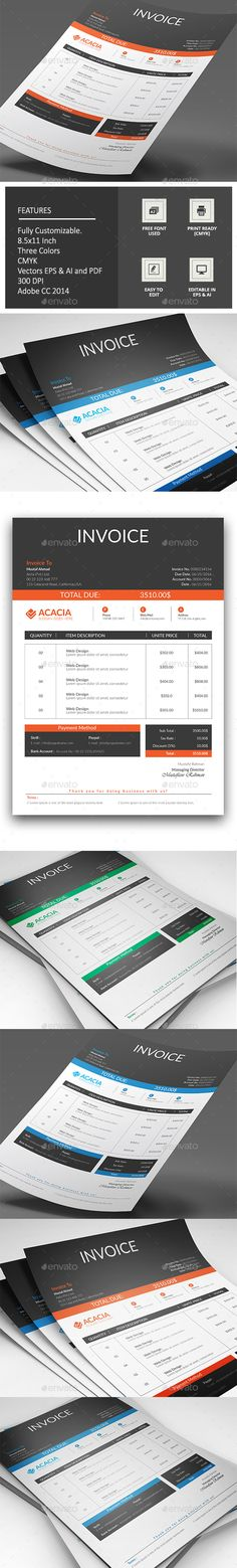 Invoice with Letterhead Proposals, Letterhead template and - proposals templates