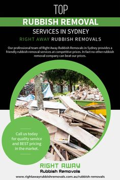 Our professional team of Right Away Rubbish Removals in Sydney provides a friendly #rubbish_removal_services at competitive prices. In fact no other rubbish removal company can beat our prices.