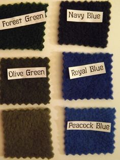 Colors Available for the fleece. www.CatherineBellaire.ca