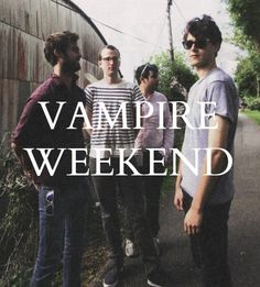 Vampire weekend. On my books board because I have nowhere else to pin them