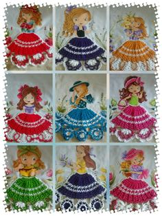 Bordado Thread Crochet, Crochet Crafts, Crochet Doilies, Crotchet Patterns, Knitting Patterns, Emu, Paint Designs, Fabric Painting, Crochet Clothes