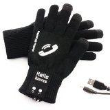 #Cuffie #10: Smartphone Guanti Bluetooth Altoparlanti Touch Vivavoce Auricolare, Hello Gloves