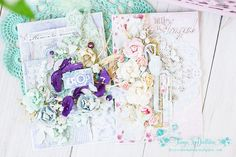 Shabby chic scrapbooking card