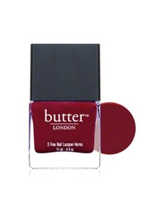 Butter London in deep red - great for fall! #nailpolish (Photo courtesy of dermstore.com)
