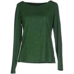 Armani Jeans T-shirt (330 RON) ❤ liked on Polyvore featuring tops, t-shirts, green, armani jeans t shirt, green t shirt, armani jeans, embroidered top and logo t shirts
