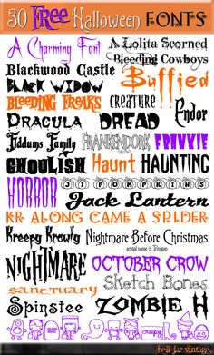 Reader Projects No. Halloween Crafts, Decor and Recipes Creative Reader Projects No. Halloween Crafts, Decor and Recipes - bystephanielynnCreative Reader Projects No. Halloween Crafts, Decor and Recipes - bystephanielynn Silhouette Fonts, Silhouette Projects, Silhouette Cameo, Halloween Fonts, Halloween Crafts, Easy Halloween, Halloween Invitations, Halloween Makeup, Halloween Party