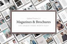 Magazine & Brochure Bundle by Ruben Stom on @creativemarket