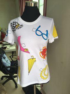 High quality Lovely Design Fashion Women Clothing 2017 Spring Summer Design T-shirt 3026