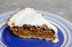 Carrot Cake Pie and Cream Cheese Frosting