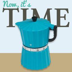 Eleganter Timer in Form einer kleinen Kaffeekanne. Ein tolles Backzubehör. #Backzubehör