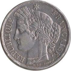 Moneda de plata 5 Francos Francia 1870 A., Tienda Numismatica y Filatelia Lopez, compra venta de monedas oro y plata, sellos españa, accesorios Leuchtturm