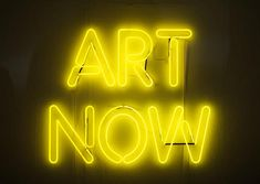 Art Show Sign Art now - neon sign from entrance to duncan of jordanstone ...