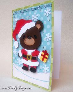 Cricut Teddy Bear Parade Christmas card