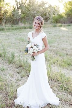 Scalloped neckline, simplistic yet beautiful -- dress made by Penelope in Salt Lake