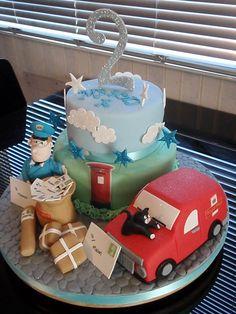 Postman Pat Cake 2 Birthday Cake, Baby Birthday, Birthday Parties, Birthday Ideas, Postman Pat Cake, Cakes For Boys, Boy Cakes, Sport Cakes, Superhero Cake