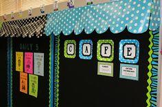 Simple DIY awning for bulletin boards Classroom Bulletin Boards, New Classroom, Spanish Classroom, Classroom Setup, Classroom Design, Classroom Displays, Kindergarten Classroom, Chalkboard Classroom, Library Displays