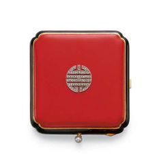 Art Deco Enamel and Diamond Vanity Case by Lacloche Freres Art Nouveau, Art Deco Vanity, Lipstick Case, Vintage Vanity, Vintage Art, Cigarette Case, Compact Mirror, Art Deco Design, Art Deco Jewelry