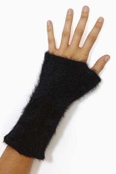 Hat Attack Angora Fingerless Gloves