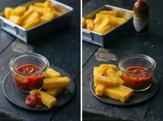 TLT - The Little Things | Parmesan Polenta Fries with Bloody Mary dip | http://tlt-thelittlethings.com