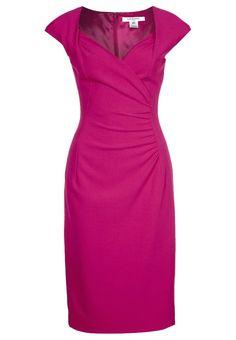 Este increíble vestido de LK Bennett lo tienes en fucsia, morado y rojo. Poliéster, viscosa y elastano.