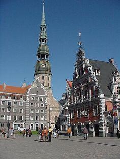 The guild hall in Riga, Latvia by Travlr, via Flickr