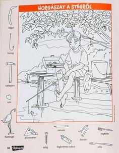 a mi utunk: rejtett képek Hidden Words, Hidden Images, Highlights Hidden Pictures, Hidden Pictures Printables, Coloring Books, Coloring Pages, Hidden Picture Puzzles, Art Books For Kids, Crafts For Seniors