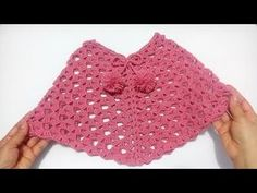 Explore our wide array of girls' top along with puffer shirt, down shirt, quilted shirt. Crochet Baby Poncho, Crochet Doily Rug, Crochet Poncho Patterns, Crochet Girls, Crochet Blouse, Crochet For Kids, Crochet Stitches, Knit Crochet, Knitting Patterns
