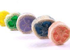 esponja rodajas de jabón exfoliante