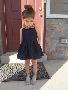 Light denim version of this dress, $10 pattern. Great for Sophia.