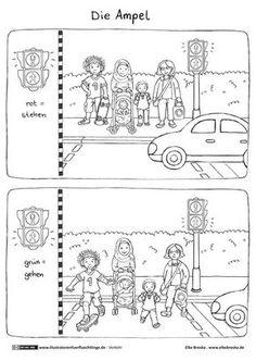 Download als PDF:Verkehr – Ampel – Broska Kindergarten Activities, Learning Activities, Kids Learning, Transportation Theme, Online Coloring Pages, Learning Arabic, Traffic Light, How To Make Light, Toddler Preschool