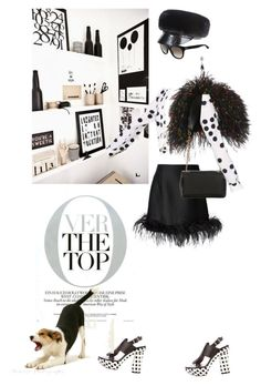 """Nothing but the top"" by pensivepeacock ❤ liked on Polyvore featuring Prada, Boutique Moschino, Lanvin, Christian Louboutin, Marni, Yves Saint Laurent and Eugenia Kim"
