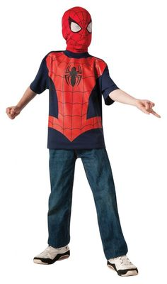 Kids Marvel Ultimate Spider Man Shirt and Mask
