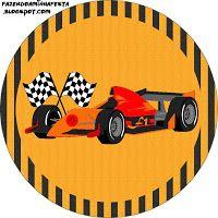 Imprimés Thème Formule 1 : http://fazendoanossafesta.com.br/2012/10/formula-1-kit-completo-com-molduras-para-convites-rotulos-para-guloseimas-lembrancinhas-e-imagens.html/