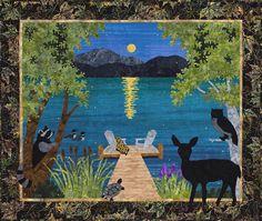 "Sue Pritt's original quilt pattern ""Moon Lake"" at Sweet Season Quilts"