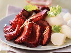 Découvrez la recette Magrets de canard laqués sur cuisineactuelle.fr. 20 Min, Tuna, Asian Recipes, French Toast, Bacon, Fish, Meat, Cooking, Breakfast