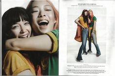 UK Cosmopolitan Marck 2017 - Modern Love, Elizabeth & Rina wear the Orange and Yellow Core Vinyl Smocks