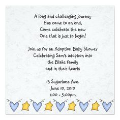 i created this adoption announcement  adoption party invite for, invitation samples