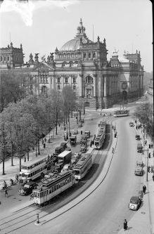 Berlin 1938 Blick vom Brandenburger Tor auf reichstag