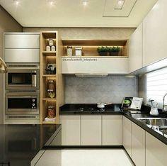 """1,505 curtidas, 9 comentários - Interiores e Arquitetura (@interioresinspira) no Instagram: """" Inspiração linda de cozinha, só amor ❤❤❤ O projeto é de @carolcantelli_interiores."""""""