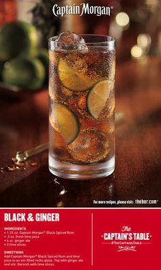 Classic bold Captain with a zesty twist. Discover what a simple splash of sweet ginger can add to this delicious rum cocktail recipe. #gingerale #drinks