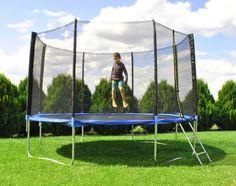 Trampolin 183cm 404cm 427cm Leiter Netz Gartentrampolin Sicherheitsnetz #2215 in…