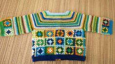 Granny square baby jacket.  https://m.facebook.com/eltallerdeavalon