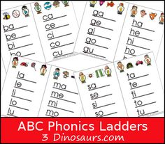 ABC Phonics Ladders are a great set of printables to have for early reader printables. They are fun and work well with my CVC, CVCE and CVCC words. Phonics Blends, Abc Phonics, Phonics Reading, Teaching Reading, Teaching Kids, Kids Learning, Student Reading, Primary Teaching, Teaching Phonics