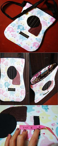 Acoustic Guitar Bag.Handmade Quilting DIY, craft idea